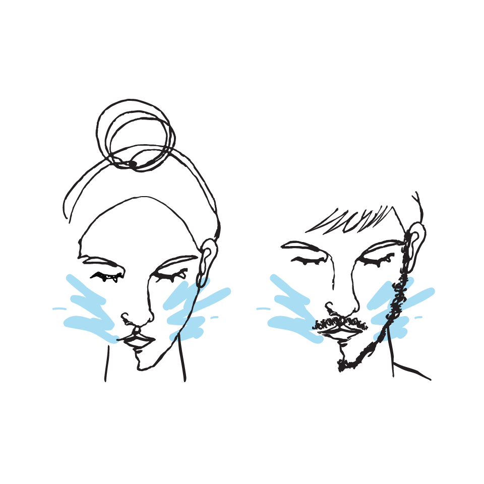 1. Start with a cleansed or rinsed face.