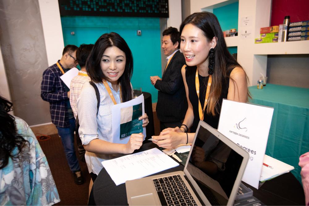 Lily Xu and Susan Yoomin Im at Demo Day
